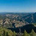View from the summit.- Eldorado Mountain