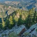 Parts of the descent are still Class II.- Eldorado Mountain