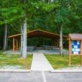 Pavilion at park entrance.- Whitten Park