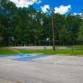 Basketball and volleyball courts.- Whitten Park Campground