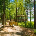 Trail to gazebo.- Whitten Park Campground