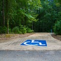 Campsite 41 B — handicapped-accessible site.- Whitten Park Campground
