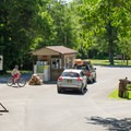 Checking in at the campground is quick and easy.- Thompson's Lake Campground