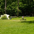 One of the campsites that is out in the open.- Thompson's Lake Campground