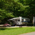 Some campers stay all summer and make their site their home.- Thompson's Lake Campground