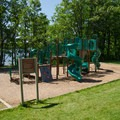 A playground is available for children.- Thompson's Lake Campground