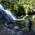 Grotto Falls is 1.25 miles from the trailhead.- Hyalite Lake