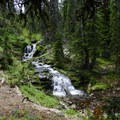 One of the smaller waterfalls along the way.- Hyalite Lake
