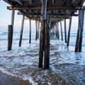 Beneath Nags Head Pier.- Nags Head Pier + Beach Access