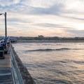 Piers often build up sandbars and create nice waves.- Nags Head Pier + Beach Access