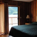 One of the bedrooms in the Waterfront House at Loon Lake.- Loon Lake Waterfront House