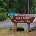 The entrance for the East Shore Recreation Shore Campground.- Loon Lake East Shore Recreation Site Campground