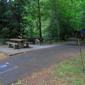 An ADA-accessible site.- Loon Lake East Shore Recreation Site Campground