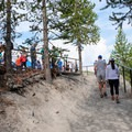 Almost to the viewing platform.- Grand Prismatic Spring Overlook