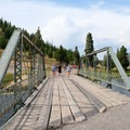 Bridge over the Firehole River.- Grand Prismatic Spring Overlook