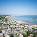 Views from the top of the Pilgrim Monument.- Pilgrim Monument