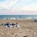 Enjoying the sunset at Herring Cove Beach.- Herring Cove Beach