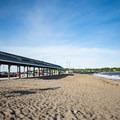 Pavilion available for rent.- Devereux Beach
