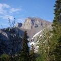 Initial view of Wheeler Peak.- Alpine Lakes Loop