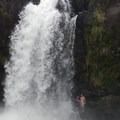A small place to jump. - Wai'ale Falls