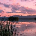 Sunset over Lake Champlain.- Button Bay State Park
