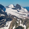 Gunsight Mountain and Sperry Glacier seen from the summit of Mount Reynolds.- Mount Reynolds Summit