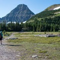 Beginning toward Mount Reynolds after leaving Hidden Lake Trail.- Mount Reynolds Summit