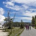 Multi-use trail in Upper Geyser Basin.- Upper Geyser Basin Trail