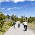 Upper Geyser Basin multi-use trail.- Upper Geyser Basin Trail