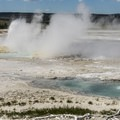 The geysers in this area continuously erupt.- Fountain Paint Pots + Lower Geyser Basin