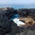 One of the many arches along the coast at Pu`uhonua o Hōnaunau National Historical Park.- City of Arches on Hōnaunau Bay
