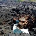 More blowholes at Pu`uhonua o Hōnaunau National Historical Park.- City of Arches on Hōnaunau Bay