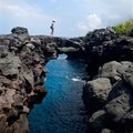 When conditions are right, you can walk out onto the arches at Pu`uhonua o Hōnaunau National Historical Park.- City of Arches on Hōnaunau Bay