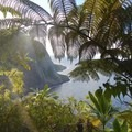 First glimpse of the final destination, Waimanu Valley.- Waimanu Valley via the Muliwai Trail