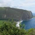The trailhead is at Waipi'o Valley Overlook, offering your first incredible view.- Waimanu Valley via the Muliwai Trail