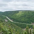 The view of the Cabot Trail.- Skyline Trail