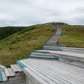 The steps down to the edge of the bluff.- Skyline Trail
