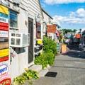 A quaint Northeastern coast town near Bearskin Neck.- Bearskin Neck