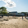 Front Beach is a traditional sand beach in Rockport, Massachusetts.- Front Beach