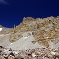 Unique geology abounds on the trail.- Rock Glacier Trail