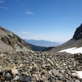 Boulder field at the end of the trail.- Rock Glacier Trail
