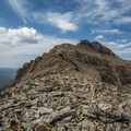 Looking toward the ridge hike and the summit.- Hayden Peak