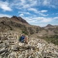Admiring the views of Middle Basin.- Hayden Peak