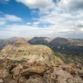 Looking north toward East Hayden and Ostler Peak.- Hayden Peak