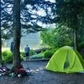Burnt Lake campsite.- Paradise Park Loop