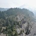 Sandy River flowing down from Mount Hood.- Paradise Park Loop