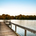 The fishing pier at sunset at Shelby Farms Park.- Shelby Farms Park