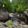 Looking downriver from the base of the falls.- Wilmington Notch Falls