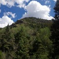 View from the trail to the adjacent mountain.- Mosca Pass Trail