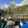 A close-up view of the Tetons.- Jenny Lake Boat Tour